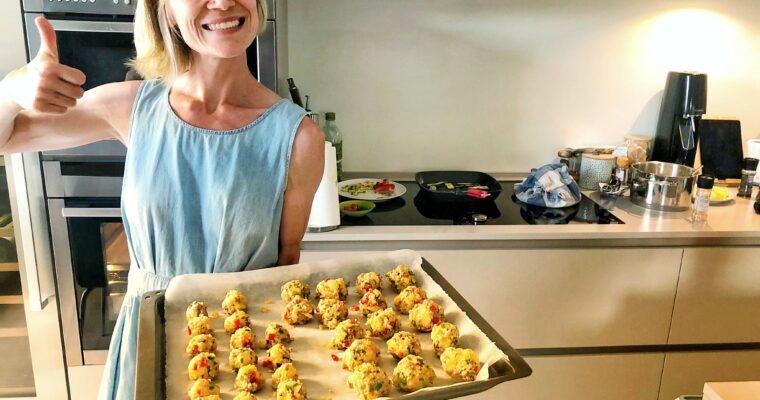 Mushroom, Quinoa and Red Pepper Veggie Balls